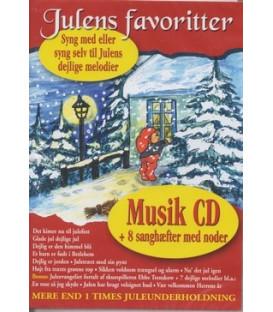 Julens favoritter cd + 8 sanghæfter
