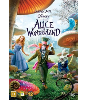 Alice I Eventyrland - Johnny Depp - Disney - DVD - BRUGT