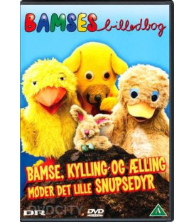 Bamses Billedbog: Bamse, Kylling & Ælling Møder Det Lille Snupsedyr DVD BRUGT