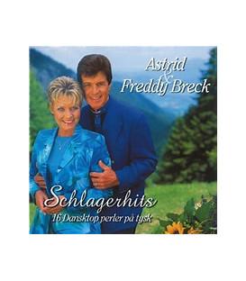 ASTRID & FREDDY BRECK: SCHLAGERHITS - 16 dansktop perler på tysk - CD - BRUGT