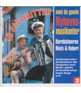 18 Favoritter med de gamle Nyhavnsmusikanter vol. 2 - CD - BRUGT
