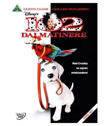 102 dalmatinere (Glenn Close) Disney - DVD - BRUGT