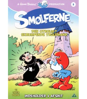 Smølferne, vol. 3: Den utroligt skrumpende troldmand - DVD - BRUGT