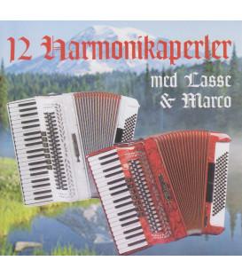 12 HARMONIKAPERLER MED LASSE & MARCO - CD - BRUGT