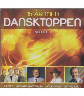15 år på Dansktoppen - Volume 1 - CD - BRUGT