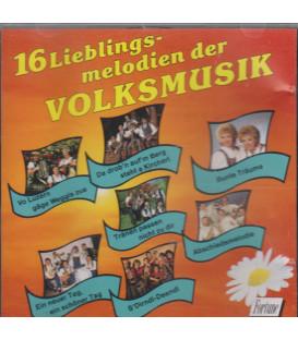 16 Lieblingsmelodien der Volksmusik - CD - BRUGT