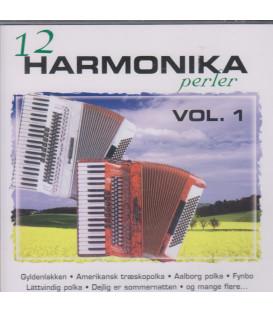 12 HARMONIKAPERLER VOL. 1 - CD - BRUGT