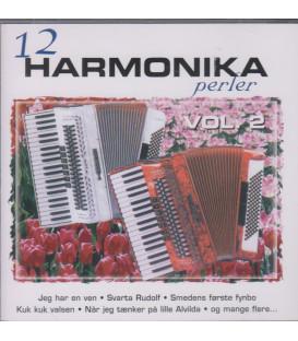 12 HARMONIKAPERLER VOL. 2 - CD - BRUGT